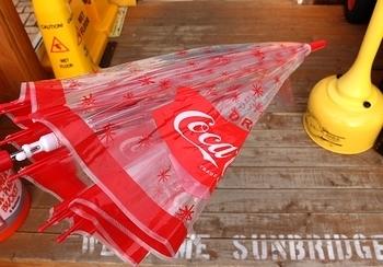 コカコーラビニール傘 コーラ傘 アメリカ雑貨屋 サンブリッヂ コーラ雑貨通販