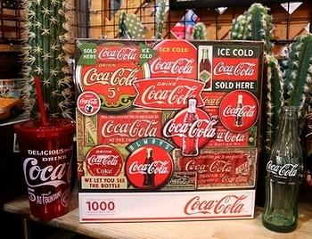 コカ・コーラクラシックサインパズル コーラ看板 アメリカン1000ピースパズル<div><br></div>アメリカ雑貨屋 SUNBRIDGE 岩手 盛岡雑貨屋