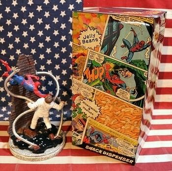 スナックディスペンサー スパイダーマン MARVEL アメコミ アメリカ雑貨屋 SUNBRIDGE 岩手 盛岡雑貨屋