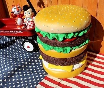 ハンバーガーチェアー ハンバーガーイス  アメリカ雑貨屋 SUNBRIDGE サンブリッヂ 雑貨通販