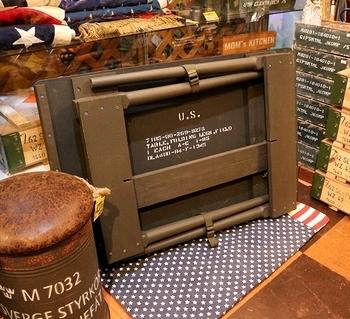 アメリカ軍フォールディングテーブル<div><br></div>アメリカ雑貨屋 サンブリッヂ 雑貨通販