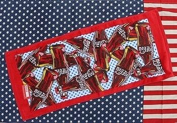 コカコーラプリントタオル アメリカンフェイスタオル COCACOLA アメリカ雑貨屋 SUNBRIDGE 岩手 盛岡