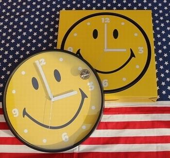 スマイルウォールクロック スマイル壁掛け時計<div><br></div>アメリカ雑貨屋 SUNBRIDGE 岩手