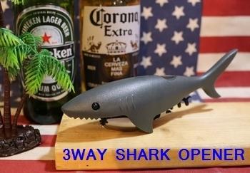 サメの栓抜き 3WAYシャークオープナー アメリカ雑貨屋 SUNBRIDGE