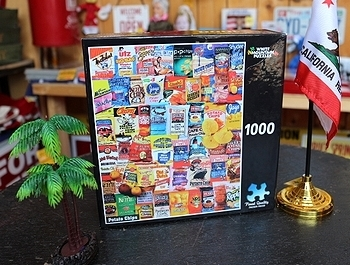 1980年代柄1000ピースパズル アメリカンフードパッケージ<div><br></div>LA買付け アメリカ直輸入 アメリカ雑貨屋 SUNBRIDGE