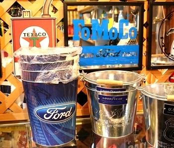 フォードブリキバケツ Fordオフィシャル デットストック アメリカ雑貨屋 SUNBRIDGE