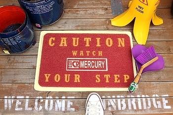 マーキュリーガレージマット MERCURY <div><br></div>玄関マット アメリカ雑貨屋 SUNBRIDGE