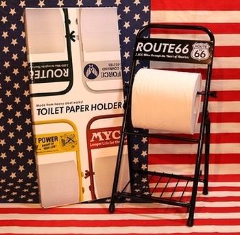 TOILETPAPER HOLDER 組み立て式トイレットペーパーホルダー エアフォース ルート66 レディキロワット MYCOアメリカン雑貨 アメリカ雑貨屋 SUNBRIDGE 岩手