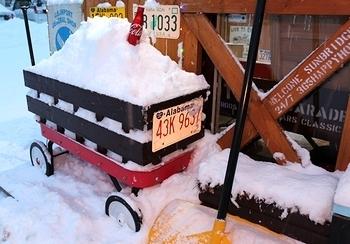 雪かきワゴン ラジオフライヤー  アメリカ雑貨屋 サンブリッヂ アメリカ雑貨通販