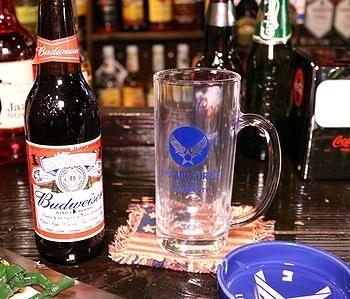 アメリカンビアグラス ルート66グラス エアフォースビアジョッキ アメリカン雑貨通販 アメリカ雑貨屋 SUNBRIDGE 岩手
