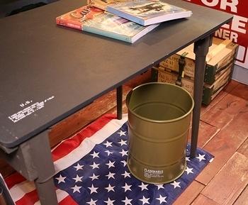 スチールドラム缶ゴミ箱 ドラム缶ダストボックス アメリカ雑貨屋 サンブリッヂ SUNBRIDGE ニリタリーゴミ箱