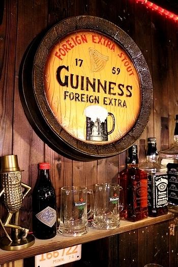 樽底壁掛け看板 ジャックダニエル看板 ギネスビール看板 ハイネケン看板 樽看板 世界のビール バー看板 BARサイン アメリカン雑貨 アメリカ雑貨屋 SUNBRIDGE 岩手雑貨屋