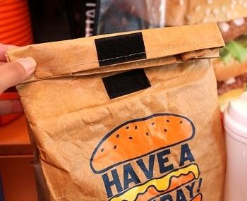 保冷ランチバッグ タイべックランチバッグ 保冷お弁当バッグ 紙袋風お弁当バッグ アメリカン雑貨 アメリカ雑貨屋 SUNBRIDGE 岩手雑貨屋