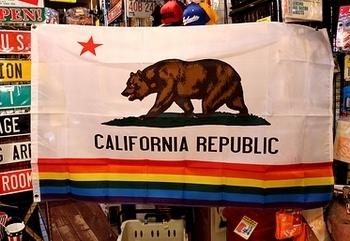 カリフォルニアフラッグレインボー カリフォルニア州旗レインボー アメリカ雑貨屋サンブリッヂ SUNBRIDGE 岩手雑貨屋 アメリカ雑貨通販