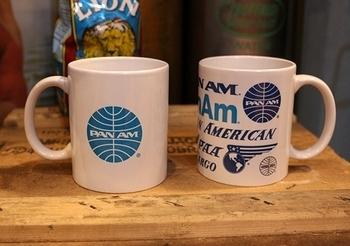 PANNAMマグカップ パンナム航空会社 アメリカ雑貨屋サンブリッヂ SUNBRIDGE 岩手雑貨屋