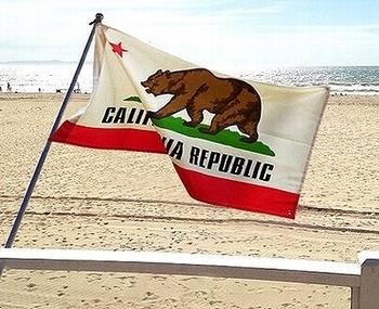 カリフォルニアフラッグ カリフォルニア州旗 カリフォルニインテリア カリフォルニアマット アメリカ雑貨屋 SUNBRIDGE 岩手アメリカン雑貨屋