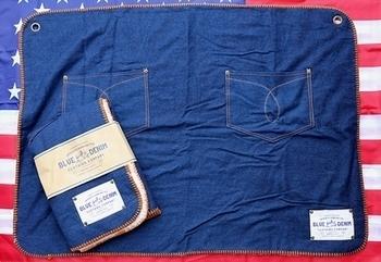 ブルーデニムブランケット デニムブランケット アメリカ雑貨屋サンブリッヂ SUNBRIDGE 岩手雑貨屋 アメリカ雑貨通販