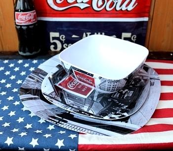 コカコーラメラミン食器 コーラメラミンプレート コーラメラミンボウル コカコーラノエル アメリカン食器 アメリカ雑貨屋 SUNBRIDGE 岩手矢巾雑貨屋
