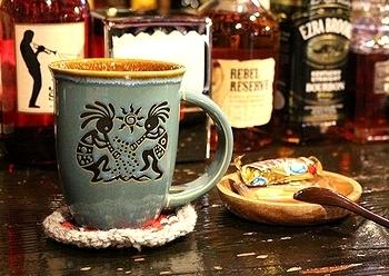 ココペリマグカップ スプーン付きマグカップ アメリカ雑貨屋サンブリッヂ SUNBRIDGE 岩手雑貨屋
