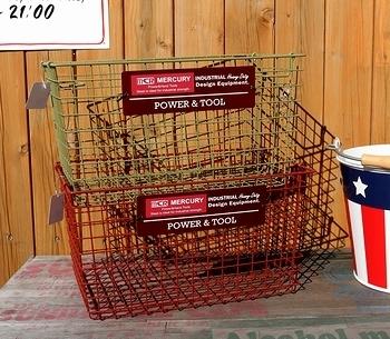 マーキュリースタキングバスケット スタッキング収納バスケット 収納カゴ 積み重ね出来るかご マーキュリー雑貨 MERCURYアメリカン雑貨 アメリカ雑貨屋 SUNBRIDGE 岩手雑貨屋