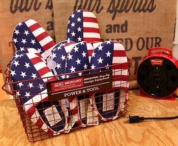 アメリカ柄スリッパ アメリカンスリッパ 星条旗スリッパ アメリカ雑貨屋サンブリッヂ SUNBRIDGE 岩手雑貨屋 アメリカ雑貨通販