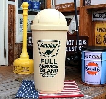シンクレア石油ゴミ箱 45リットルゴミ箱 アメリカンゴミ箱  岩手雑貨屋 アメリカ雑貨屋 サンブリッヂ SUNBRIDGE