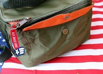 MA-1ジャケット風保冷バッグ ミリタリーレジャーバッグ ランチお弁当バッグ アウトドア保冷バッグ アメリカ雑貨屋 SUNBRIDGE 岩手