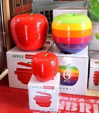 アップルプレート6枚セット APPLE PLATE パーティ皿 キャンプ皿 BBQプレート アメリカ雑貨屋 SUNBRIDGE 岩手 アメリカン雑貨