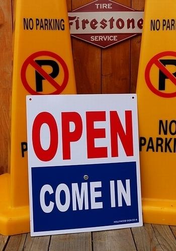 アメリカンオープン看板 プラスチックオープン看板 OPEN看板 アメリカン雑貨 アメリカ雑貨屋 サンブリッヂ SUNBRIDGE 岩手雑貨屋