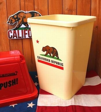 カリフォルニアゴミ箱 カリフォルニアダストボックス アメリカン雑貨 アメリカ雑貨屋 サンブリッヂ SUNBRIDGE 岩手雑貨屋