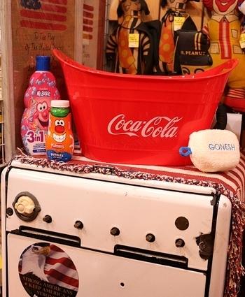 コカ・コーラオーバルタブ コーラカゴ バスケット 洗濯かご アメリカ雑貨屋 サンブリッヂ アメリカン雑貨 岩手
