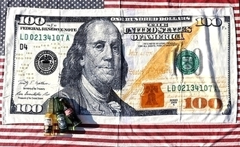 100ドル札ビーチタオル USAバスタオル アメリカ雑貨屋 SUNBRIDGE アメリカン雑貨 岩手 盛岡 矢巾雑貨屋