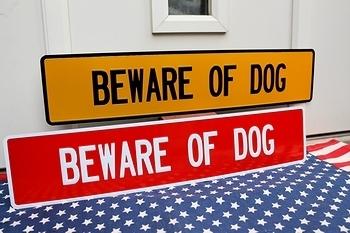 犬注意看板 所さん犬看板 ストリート看板 アメリカ雑貨屋 サンブリッヂ SUNBRIDGE 岩手雑貨屋