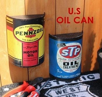 USエンボスサインオイル缶 OIL CAN アメリカン雑貨 アメリカ雑貨屋 サンブリッヂ SUNBRIDEG 岩手雑貨屋