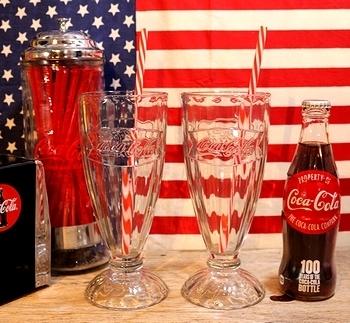 コーラフロートグラス コカコーラグラス  アメリカ雑貨屋 SUNBRIDGE 岩手 アメリカン雑貨