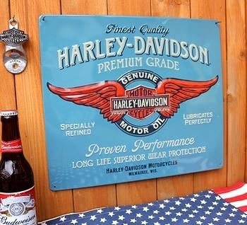 ハーレーダビッドソン看板 ハーレーブリキ看板 アメリカ雑貨屋 サンブリッヂ 岩手 雑貨屋