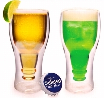インサイドビアグラス 2重構造ビールグラス おもしろグラス 岩手雑貨屋 サンブリッヂ SUNBRIDGE  アメリカン雑貨