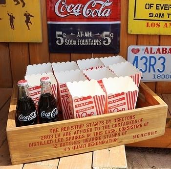 ポップコーンパッケージ ポップコーンカップ 70年代デットストック アメリカンポップコーンケース アメリカ雑貨屋 サンブリッヂ SUNBRIDGE 岩手雑貨屋