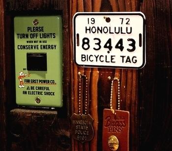 ハワイ自転車ナンバープレート ハワイナンバープレート ミニプレート アメリカ雑貨屋 岩手雑貨屋 サンブリッヂ SUNBRIDGE  アメリカン雑貨