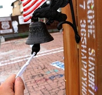 キャストアイアンUSAフラッグベル アメリカドアベル イーグル アメリカ雑貨屋サンブリッヂ SUNBRIDGE 岩手雑貨屋