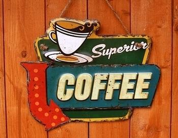 アメリカンブリキ看板 アメリカンミニ看板 コーヒー看板 アメリカ雑貨屋サンブリッヂ SUNBRIDGE 岩手雑貨屋 アメリカ雑貨通販