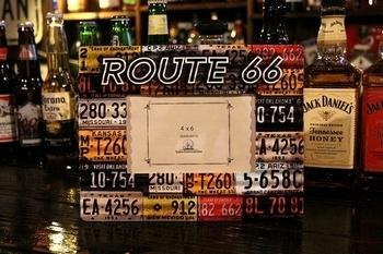 ルート66フォトフレーム 写真たて フォトフレーム アメリカ雑貨屋 サンブリッヂ SUNBRIDGE 岩手雑貨屋 アメリカン雑貨