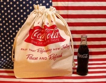 コカ・コーラ巾着トート コカ・コーラ アメリカ雑貨屋サンブリッヂ SUNBRIDGE 岩手雑貨屋