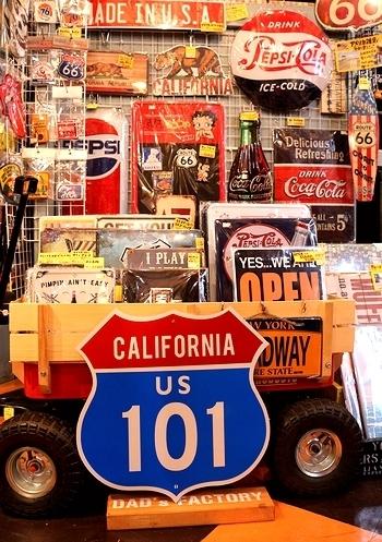 カリフォルニア101看板 カリフォルニアトラフィック看板 カリフォルニア道路看板 アメリカ雑貨屋 サンブリッヂ SUNBRIDGE 岩手雑貨屋 アメリカン雑貨