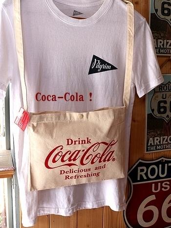 コカコーラサコッシュ ショルダーバッグ アメリカ雑貨屋サンブリッヂ SUNBRIDGE 岩手雑貨屋