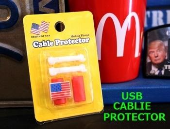 ライトニング ケーブル カバー USBケーブルカバー 携帯充電ケーブルアクセサリー スマホアクセサリー USB CABLE PROTECTOR アメキャラ雑貨 アメリカ雑貨屋 SUNBRIDGE 岩手雑貨屋