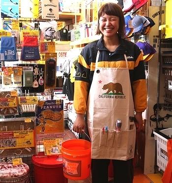 カリフォルニアワークエプロン カリフォルニアエプロン アメリカ雑貨屋サンブリッヂ SUNBRIDGE 岩手雑貨屋