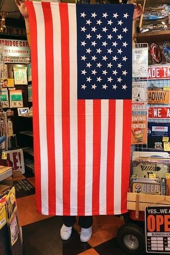 星条旗バスタオル アメリカバスタオル USAビーチタオル アメリカ雑貨屋サンブリッヂ SUNBRIDGE 岩手雑貨屋 アメリカ雑貨通販