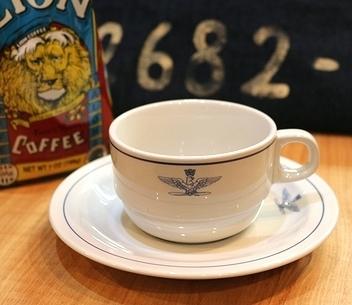 イタリア軍コーヒーカップ&ソーサー アメリカ雑貨屋サンブリッヂ SUNBRIDGE 岩手雑貨屋 アメリカ雑貨通販