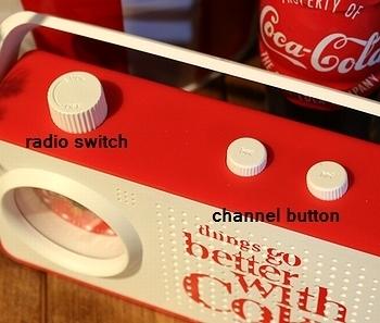 コカコーララジオ付き目覚まし時計 コーラ時計 アメリカ雑貨屋 サンブリッヂ SUNBRIDGE 岩手雑貨屋